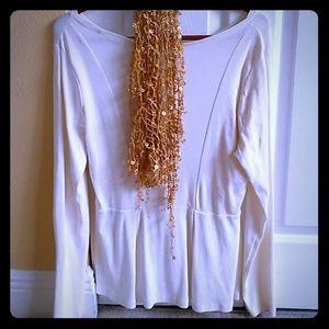 Shirt white tailored, great for leggings